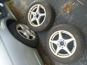 4 Good Condition Honda Civic Wheels And Tires 2x 195 65r15 And 2x 195 60r15