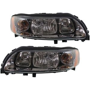 Headlight Set For 2004 2009 Volvo S60 Left And Right With Bulb 2pc
