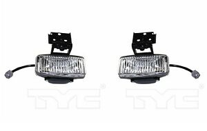 Pair Set Of 2 Tyc Fog Lights Lamps Assemblies For Jeep Grand Cherokee 1997 1998
