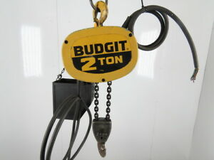 Budgit 115847 11 2 Ton Electric Chain Hoist 10 6 Travel 3 Phase