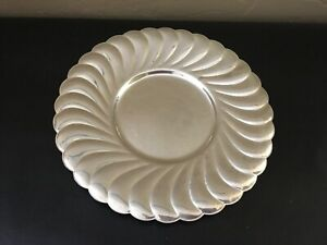 Vintage Waverly Collection W M Rogers Sterling Silver Round Serving Platter