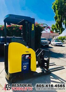 2 2008 Yale Nr040 Reach Truck Forklifts 4000 Lb Cap 7000 Hours Financing