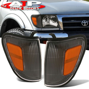 Black Housing Amber Signal Marker Lights Lamps For 1998 2000 Toyota Tacoma 4wd