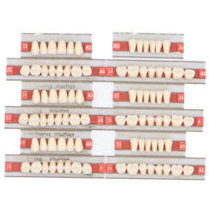 3 Set Of 84 Denture Dental Acrylic Resin Teeth Vita Color A3 Upper Lower Shade