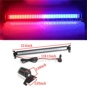 80 Led Car Strobe Flashing Turn Signal Warning Light Bar Windshield Red