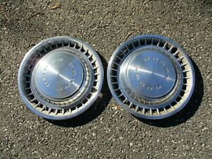 Factory 1972 To 1976 Dodge Challenger 14 Inch Metal Hubcaps Wheel Covers
