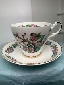 Vintage Argule Bone China Tea Cup And Saucer Sn 019