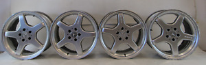 03 Mercedes R230 Sl500 Sl55 Wheels Amg 2304012002 8 5x18 2304012102 9 5x18