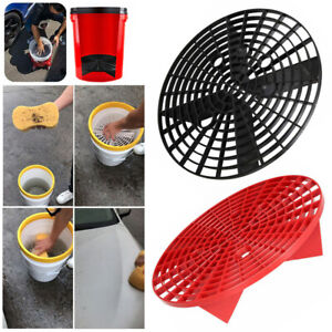 Car Wash Grit Guard Insert Washboard Water Bucket Filter Anti Scratch Sponge Set