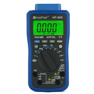 Automotive Multimeter Hp 90k Lcd Dmm Ac dc Tester Tach Dwell Temp Rpm Test Usb P