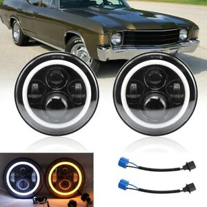 Dot Pair 7 Led Headlights Pair High Low Beam For Chevy Chevelle 1971 1972 1973