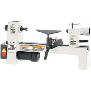 Shop Fox W1704 8 By 13 Inch Benchtop Variable Speed Cast Iron Wood Lathe White