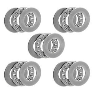 Tc815 2tra Needle Roller Thrust Bearings With Washers 1 2 x15 16 x5 64 5pcs
