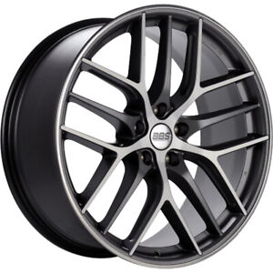4 19x9 Gray Machined Wheel Bbs Ccr 5x120 48