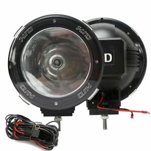 1 Pair 7 Inch 12v 100w Hid Driving Lights Xenon Spotlights For Offroad Hw