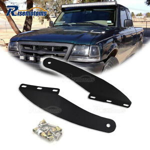 For 1993 2011 Ford Ranger 50 Curved Light Bar Over Windshield Mounting Brackets