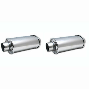 Vibrant Power Ultra Quiet Exhaust Resonator 2 50 Steel Inlet Outlet 2 Pack