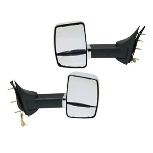 Mirror For 99 2014 Ford E 350 Super Duty Set Of 2 Lh And Rh Chrome