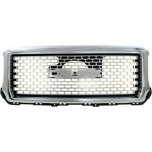 New Grille Grill For Gmc Sierra 1500 Truck 2014 2015 Gm1200681 23254462