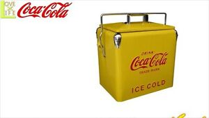 Coca-Cola cooler box Limited yellow model American Goods Japan Rare Retro cool