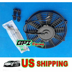 10 12v 80w 850 Cfm Slim Electric Radiator Cooling Thermo Fan W mounting
