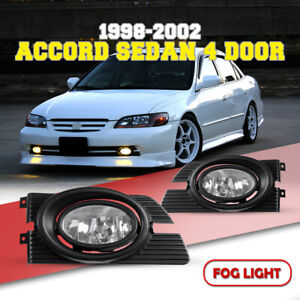 Fog Lights For 98 02 Honda Accord Replace Clear Lens Switch Wiring Kit Pair
