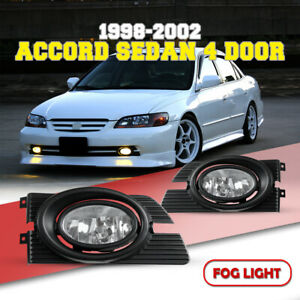 Driving Fog Lights For 02 Honda Accord Replace Clear Lens Switch Wiring Kit Pair