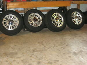 Set Of 4 F150 Expedition 6x135 Wheels With Firestone 275 65 r18 Tires 2004 up