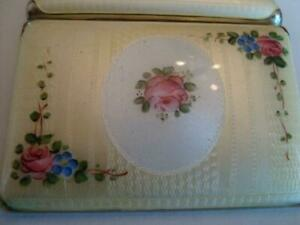 Fmco Guilloche Enamel On Both Sides Cigarette Card Case Great Cond