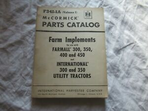 International Farm Implements Parts Catalog For Farmall Tractor 300 350 400 450