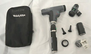 Welch Allyn Panoptic Ophthalmoscope W Lithium ion Handle Soft Case New 2