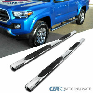 Fit 05 20 Toyota Tacoma Double crew Cab 4 Oval Side Step Bars Running Boards
