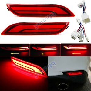 For Toyota Camry 2018 2019 Car Led Rear Warning Bumper Turn Signal Brake Light