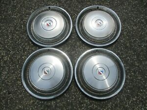 1978 1979 Buick Limited Factory 15 Inch Metal Hubcaps Wheel Covers Set