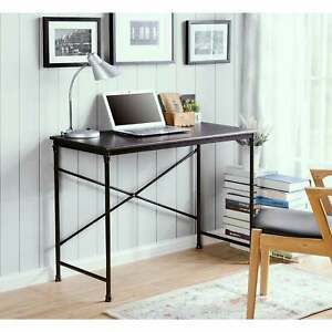 Prospero Writing Desk With Metal Legs Brown Small