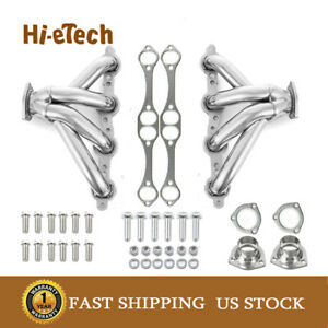 Stainless Shorty Manifold Headers With Bolt Small Block For Chevy Sbc 350