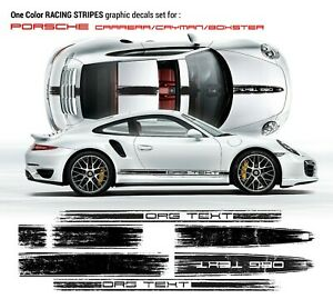Scratched Racing Stripes Set For Porsche Carrera Cayman Boxster