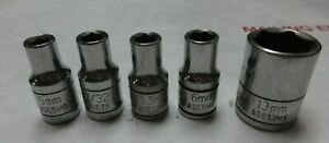 Lot Of 5 Silver Eagle Matco 1 4 Drive Socket 5mm 7 32 5 5mm 13mm 6mm 6 Point