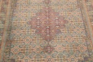One Of A Kind Antique Geometric Hand Knotted 11x14 Wool Oriental Area Rug Large
