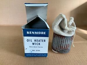 Kenmore Oil Heater Wick With Metal Carrier Vintage Unique