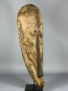 190814 Large Old Tribal Used African Mask From The Fang Gabon