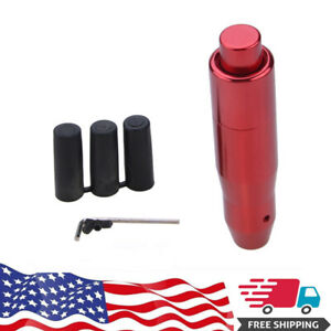 Red Aluminum Car Autio Automatic Gear Stick Shift Knob Shifter Lever With Button