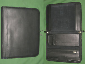 8 5x11 Note Pad Black Cowhide Leather Euro Design Planner Binder Franklin Covey