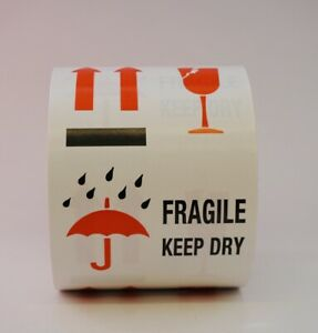 Fragile Keep Dry Labels 4 X 6 500 Per Roll Shipping Label