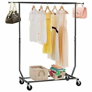 100 Lb Heavy Duty Commercial Grade Clothing Garment Rolling Collapsible Rack