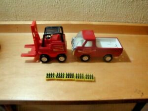 Buddy L Coca Cola Truck and Fork Lift Truck with 5 Cases of Coke Bottles NICE!!