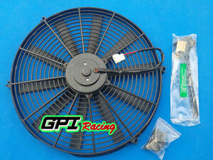 12v 12 slim Radiator Cooling Thermo Electric Fan mounting Most Japan Cars Gpi
