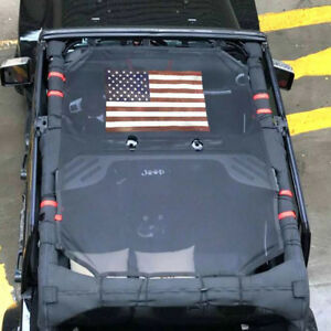 Soft Top Mesh Cover Sunshade Uv Protection For 2007 2018 Jeep Wrangler Jk 4 Door