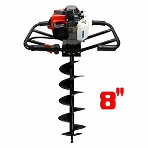 3hp 2 Man 63cc Gas Epa Post Earth Planting Hole Auger Digger Machine 8 Bit