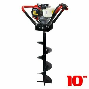 55cc Gas 2 stroke Post Hole Digger One Man Auger Epa Powerhead 10 Digging Bit